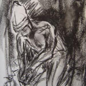 Untitled - prosessbilde 2. Tegning av Elisabeth Berggren Hansen