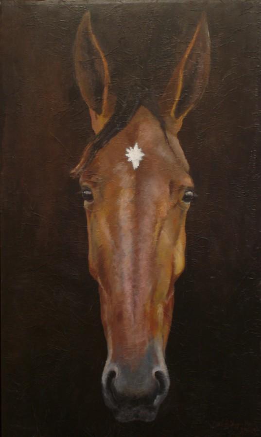 100% Horse: Lonely Adel. Maleri av Elisabeth Berggren Hansen