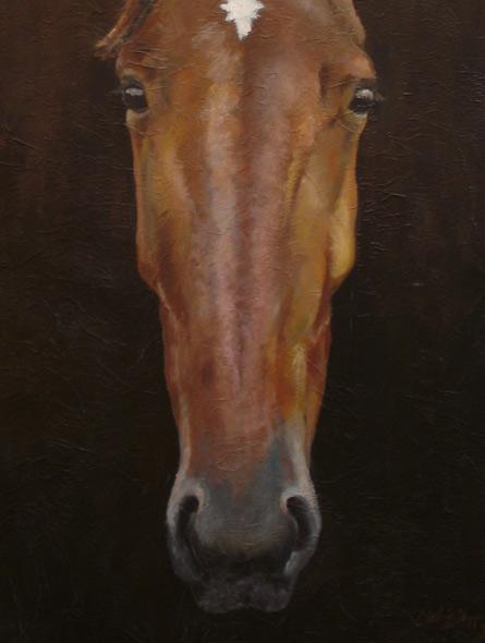 100% Horse: Lonely Adel - miniatyrbilde. Maleri av Elisabeth Berggren Hansen