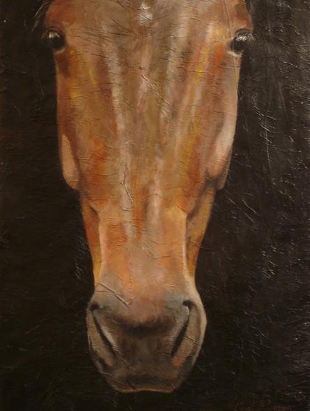 100% Horse: Sugar Pride - miniatyrbilde. Maleri av Elisabeth Berggren Hansen