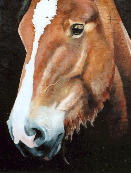 100% Horse: Smaragd - miniatyrbilde. Maleri av Elisabeth Berggren Hansen