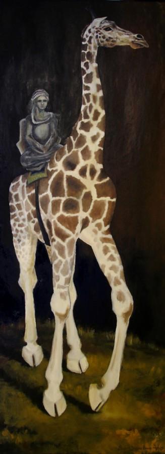 Reisen. Maleri av Elisabeth Berggren Hansen