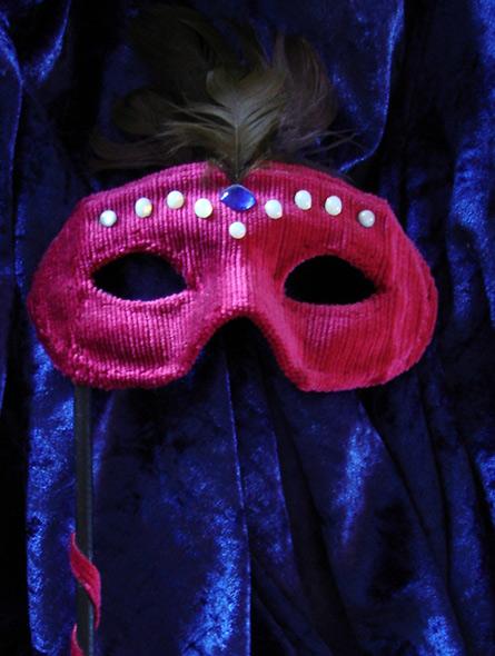 Maskerade maske - miniatyrbilde. Maske av Elisabeth Berggren Hansen
