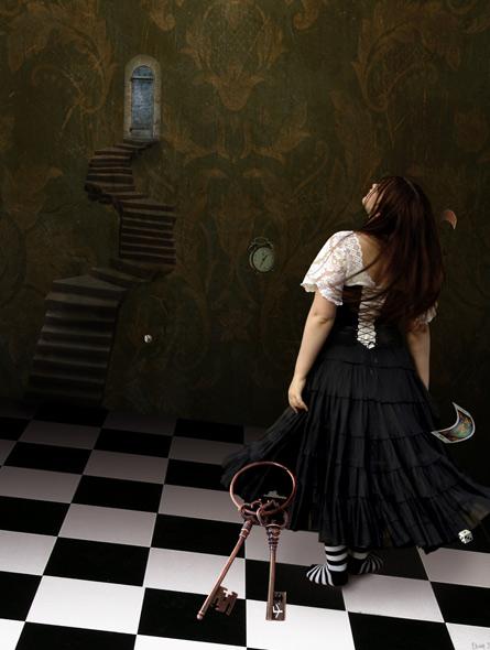 Destiny - miniatyrbilde. Fotomanipulasjon av Elisabeth Berggren Hansen