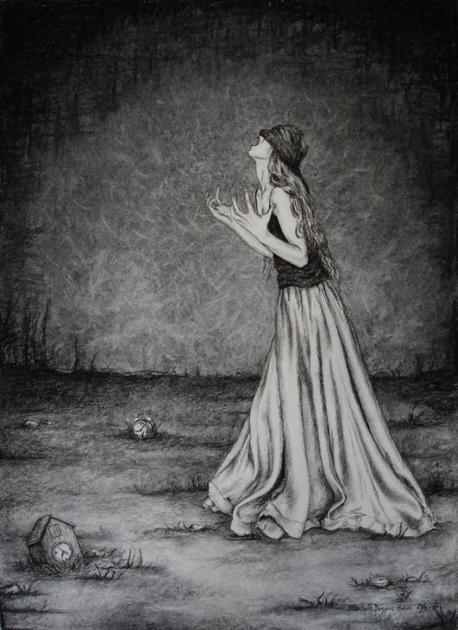 Stop Time. Tegning av Elisabeth Berggren Hansen