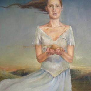 Losing my dreams - detalj. Maleri av Elisabeth Berggren Hansen