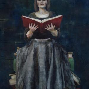 The Book of Secrets - detaljbilde 1. Maleri av Elisabeth Berggren Hansen