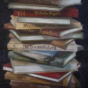 The Book of Secrets - detaljbilde 4. Maleri av Elisabeth Berggren Hansen