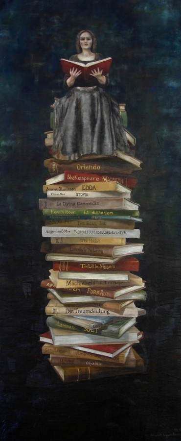 The Book of Secrets. Maleri av Elisabeth Berggren Hansen