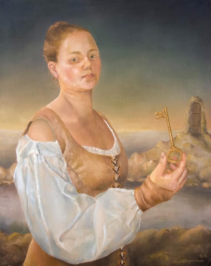 The Key. Maleri av Elisabeth Berggren Hansen