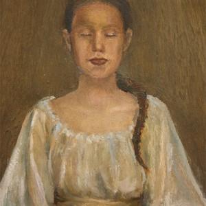 Visdom - detaljbilde 2. Maleri av Elisabeth Berggren Hansen