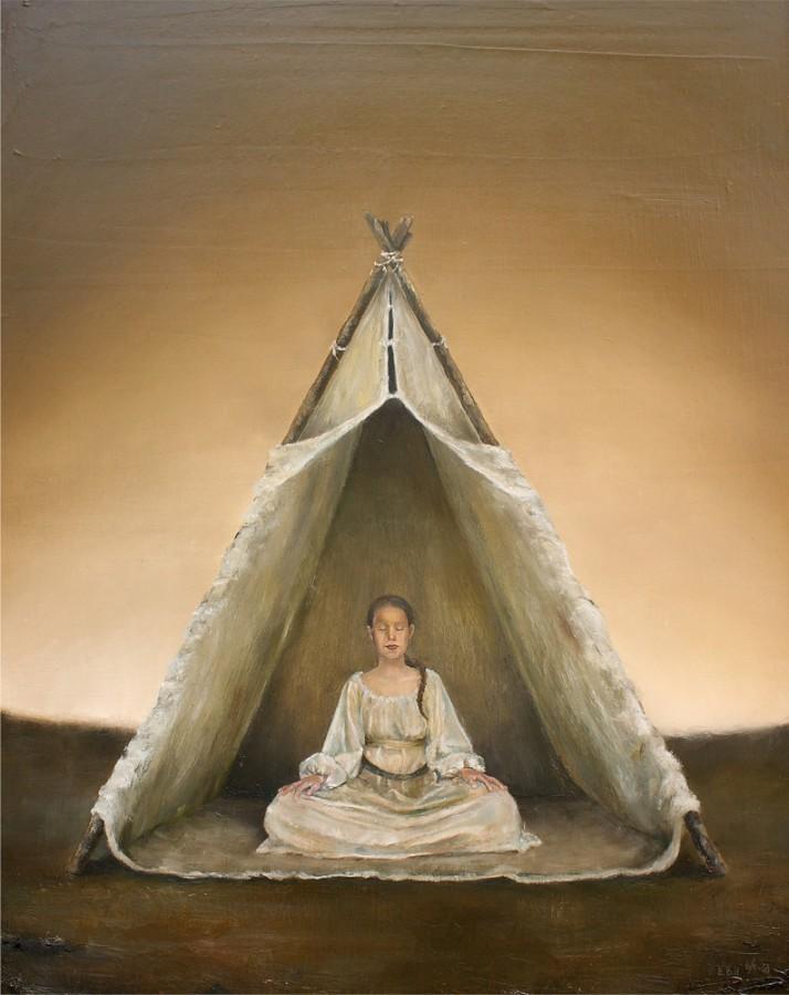 Visdom. Maleri av Elisabeth Berggren Hansen