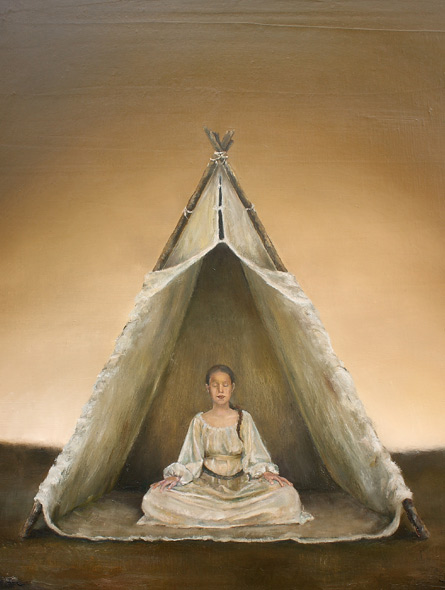 Visdom - miniatyrbilde. Maleri av Elisabeth Berggren Hansen