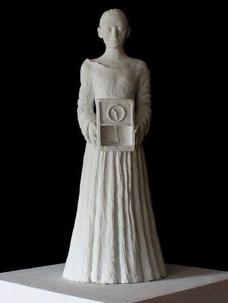 Den stille time - miniatyrbilde. Skulptur av Elisabeth Berggren Hansen