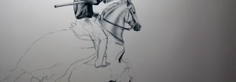 Guarded – Tegning under arbeide av Elisabeth Berggren Hansen