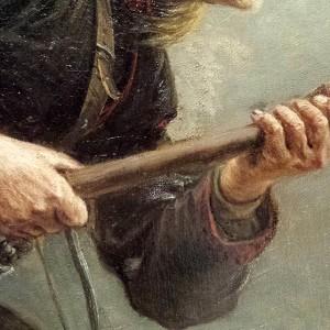 Knud Bergslien Birkebeinerne (detalj), 1869