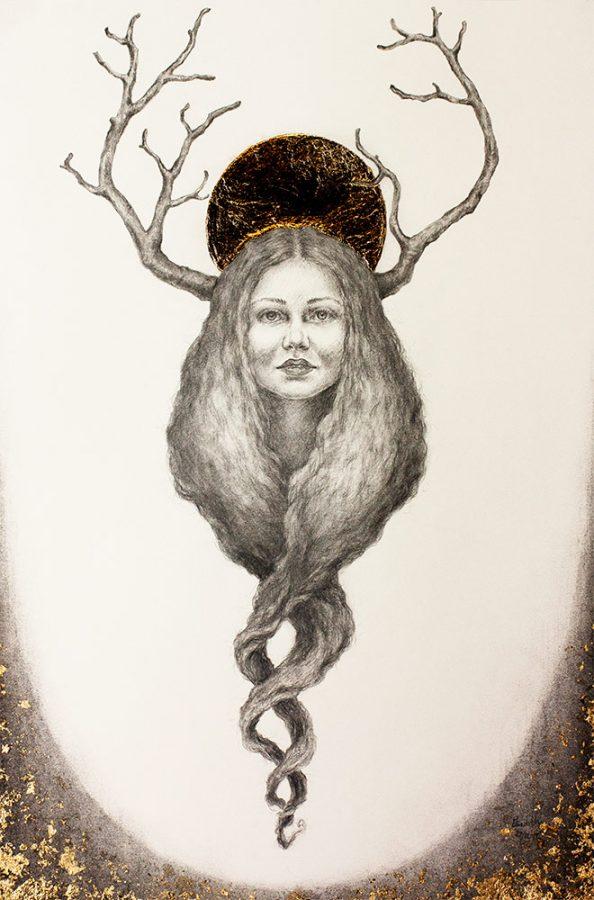 Golden Crown - Tegning laget av Elisabeth Berggren Hansen (2019)