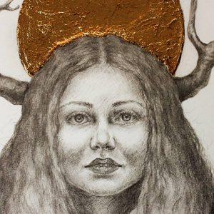 Golden Crown - detalj 1 - Tegning laget av Elisabeth Berggren Hansen (2019)
