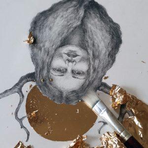 Golden Crown under arbeid 3 - Tegning laget av Elisabeth Berggren Hansen (2019)