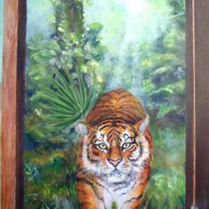 Jeg leter etter min sjel - detaljbilde 1. Maleri av Elisabeth Berggren Hansen