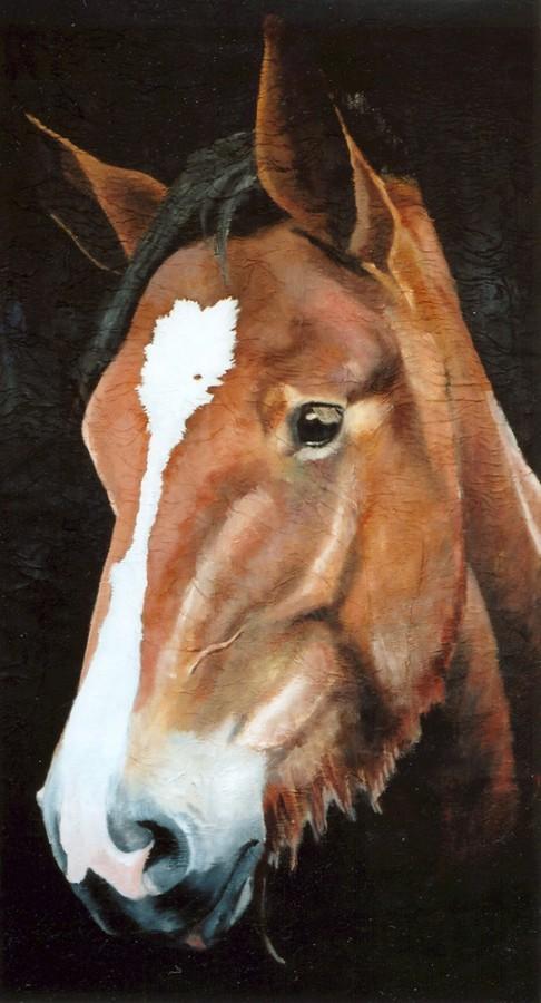 100% Horse: Smaragd. Maleri av Elisabeth Berggren Hansen