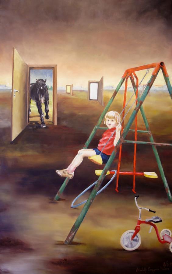 Tid. Maleri av Elisabeth Berggren Hansen