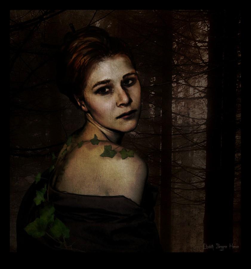 The dark forest. Fotomanipulasjon av Elisabeth Berggren Hansen