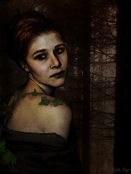 The dark forest - miniatyrbilde. Fotomanipulasjon av Elisabeth Berggren Hansen