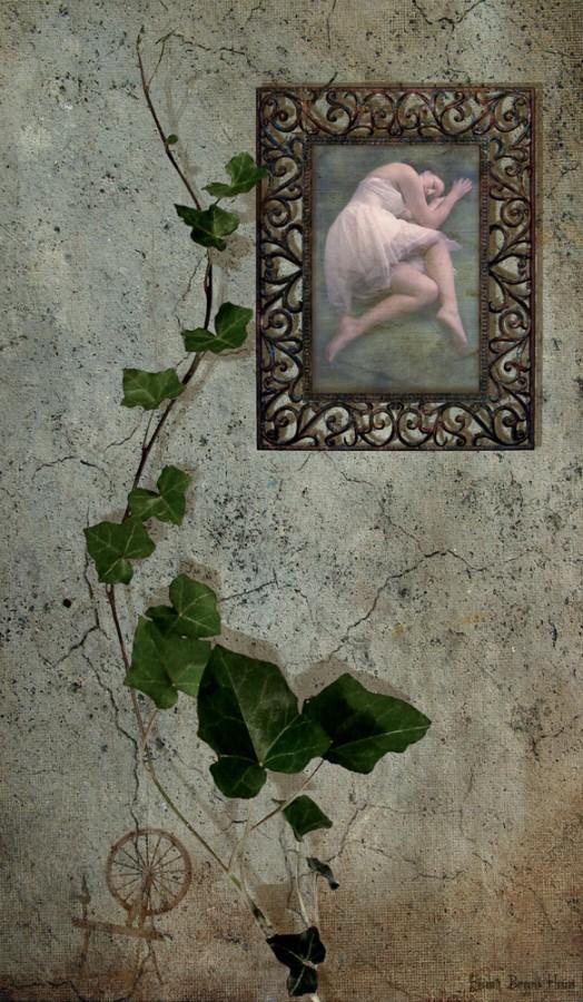 Sleeping beauty. Fotomanipulasjon av Elisabeth Berggren Hansen