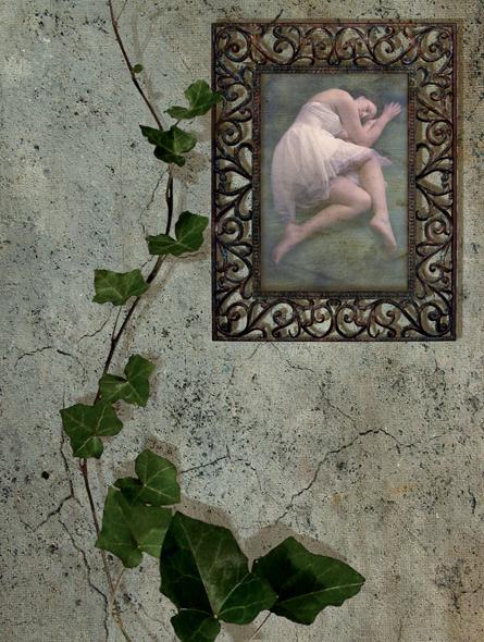 Sleeping beauty - miniatyrbilde. Fotomanipulasjon av Elisabeth Berggren Hansen