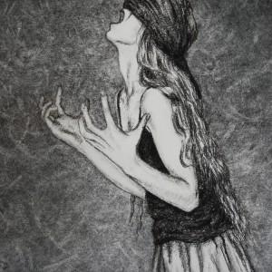 Stop Time - detaljbilde 1. Tegning av Elisabeth Berggren Hansen