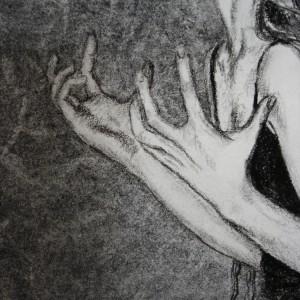 Stop Time - detaljbilde 2. Tegning av Elisabeth Berggren Hansen