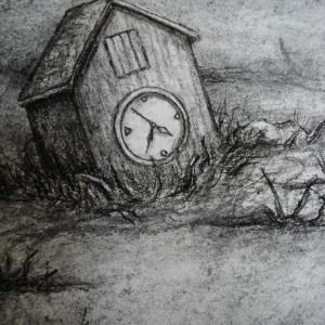 Stop Time - detaljbilde 4. Tegning av Elisabeth Berggren Hansen