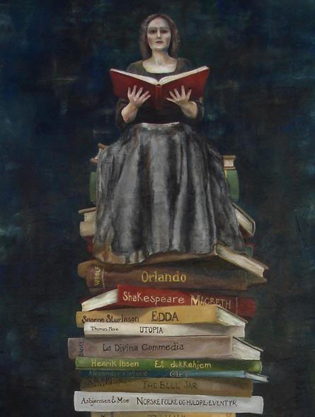 The Book of Secrets - miniatyrbilde. Maleri av Elisabeth Berggren Hansen