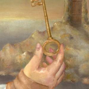 The Key - detaljbilde 2. Maleri av Elisabeth Berggren Hansen