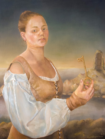 The Key - miniatyrbilde. Maleri av Elisabeth Berggren Hansen