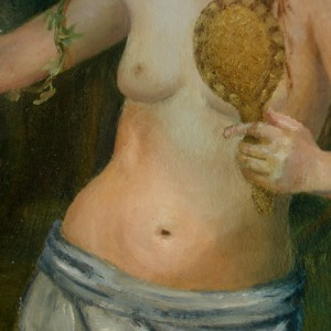 The Wood Nymph - detaljbilde 3. Maleri av Elisabeth Berggren Hansen