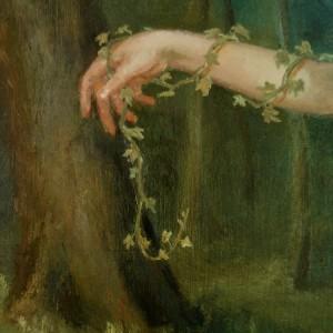 The Wood Nymph - detaljbilde 4. Maleri av Elisabeth Berggren Hansen