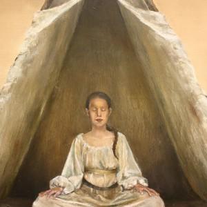 Visdom - detaljbilde 1. Maleri av Elisabeth Berggren Hansen