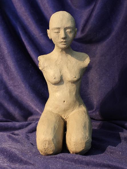 Fred - miniatyrbilde. Skulptur av Elisabeth Berggren Hansen