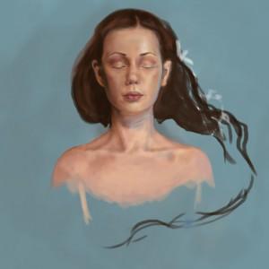 In a dream - prosessbilde 2. Digital tegning av Elisabeth Berggren Hansen
