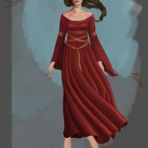 In a dream - prosessbilde 6. Digital tegning av Elisabeth Berggren Hansen