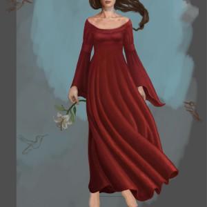 In a dream - prosessbilde 7. Digital tegning av Elisabeth Berggren Hansen
