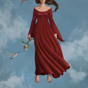 In a dream - prosessbilde 8. Digital tegning av Elisabeth Berggren Hansen