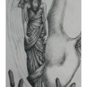 Swan - Prosess 04. Tegning av Elisabeth Berggren Hansen