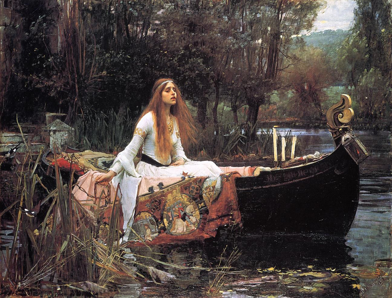 The Lady of Shallot, av John William Waterhouse, 1888