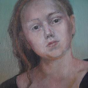 Ulvinnene - detaljbilde 1. Maleri av Elisabeth Berggren Hansen