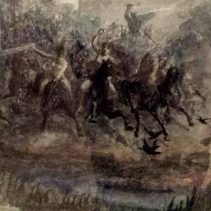 Skisse - Peter Nicolai Arbo Åsgårdsreien, 1872