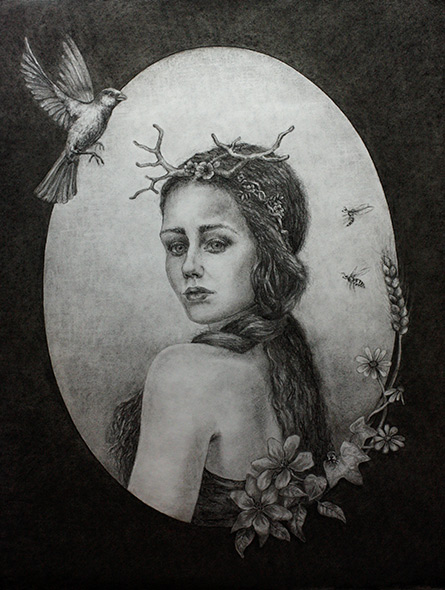 I am strong… but I am afraid… kulltegning av Elisabeth Berggren Hansen (miniatyrbilde)