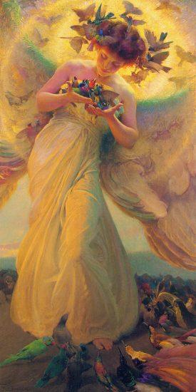František Dvořák - The angel of the birds (1910)